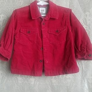 Baby Gap Cranberry Red Boys 12-18 mo. Lined Shirt